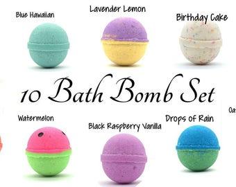 10 Bath Bomb Set | Bath Bombs | Goat Milk Bath Bombs | Bath Fizzies