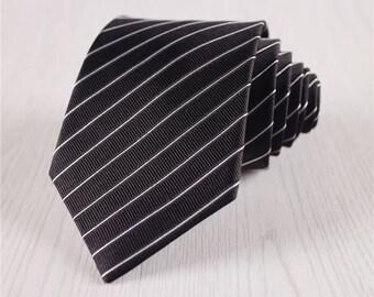 black silk ties.mens silk necktie.black wedding ties.formal necktie.groomsmen ties.mens black tie+nt223