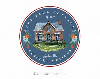 house logo cottage logo cabin logo home decor logo interior design logo realty logo real estate logo premade logo design pre made logo