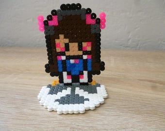 Sprite of Overwatch character from Overwatch in perler Beads