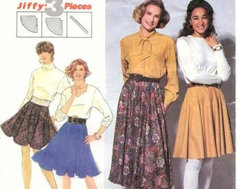 Simplicity Pattern 7561 Full circle skirt with waistband size 18-24  UNCUT