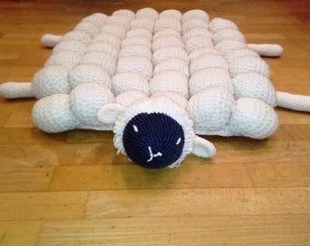 sheep cocoon carpet balls crochet