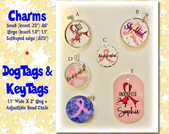 Individual Breast Cancer WARRIOR Charms