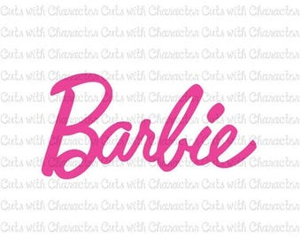 ON SALE Barbie logo SVG Dxf and Png Files for Cutting Machines Silhouette, Cricut or Scan 'N' Cut