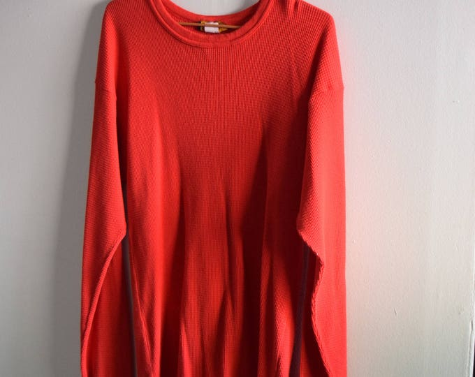 Vintage Red Waffleknit Thermal |  Pick Your Print (Pocket Sized)