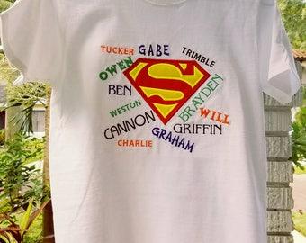 SUPERMAN BIRTHDAY SHIRT!