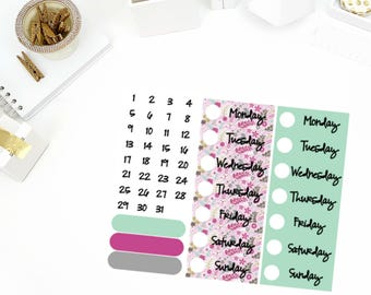 Enchanted Weekly Date Cover Up Stickers! Perfect for your Erin Condren Life Planner, calendar, Paper Plum, Filofax!