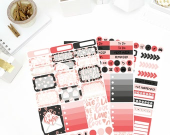 Love Letters Weekly Kit Stickers! Perfect for your Erin Condren Life Planner, calendar, Paper Plum, Filofax!