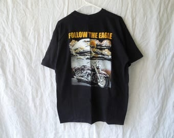 90s Follow the Eagle Biker Motorcycle T-Shirt