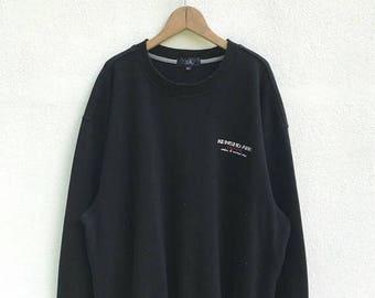 "20% OFF Vintage Kensho Abe Homme Sweatshirt / Kensho Abe Pullover / Black Sweater / Armpit 26.5"" / Designer Clothing"