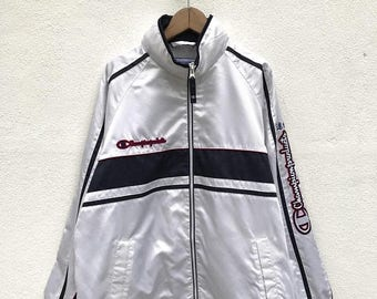 20% OFF Vintage Champion Embroidery Big Logo Jacket / Champion Sport Jacket / Champion Zipper Jacket / Champion Windbreaker