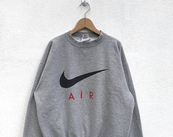 20% OFF Vintage Nike Aur Big Logo Sweatshirt Nike Sweater Nike Air Jordan Nike Spell Out Nike Usa