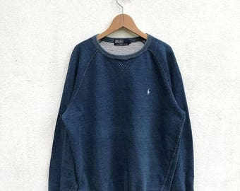 "20% OFF Vintage Polo Ralph Lauren Small Pony Sweatshirt Armpit 23"" /Ralph Lauren Sweater/Polo Sport/Polo Crewneck"