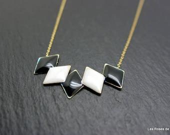 Necklace art nouveau triangle, necklace
