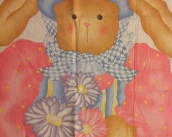 vintage door panel wall hanging Easter Bunny cut and sew Daisy Kingdom