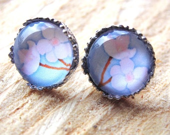 Earrings Cherry blossom cabochon Earrings