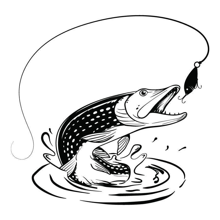 fishing line graphic clip art; svg cut file; cutting file ...