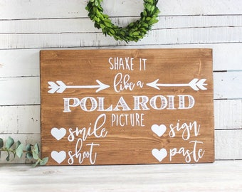 Polaroid Wedding Guest Book Sign, Polaroid Guestbook Sign, Wedding Polaroid Guest Book, Rustic Wedding Photo Booth Props, Wedding Sign