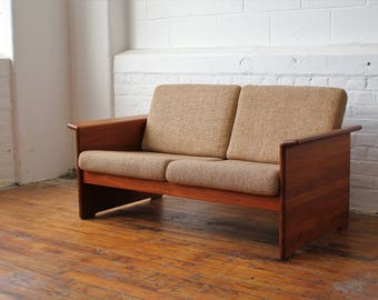 Solid Teak Danish Loveseat by Tarm Stole