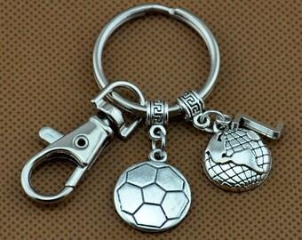 Anniversary Keychain, Basketball Keychain, Couples Keychain Gift, Customized Keychain, Personalized, Husband Wife, Boyfriend Girlfriend-1719