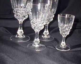 """Durand Cristal d'Arques """"Pompadour"""" Sherry Glasses"""