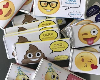Emoji birthday Candy Bar Wrapper