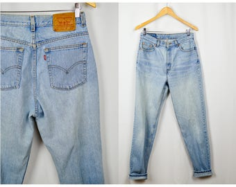 512 Levis Jeans, Vintage Clothing, 90s Clothing, Mom Jeans 30, High Waisted Jeans, 90s Jeans, Tall Long Jeans, Clothes, Light Wash Jeans