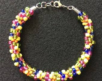 Fiesta Mix Kumihimo Bracelet