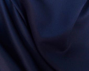 Dark Navy wool Blend Fabric~ Navy wool fabric~By 5 yards navy blue wool blend fabric~suiting jacket blazer skirt navy wool fabric@sohoskirts