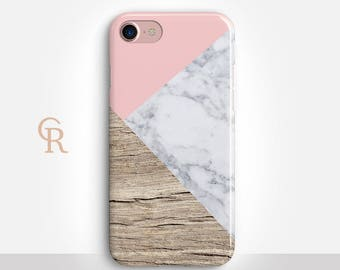 Marble iPhone 7 Case For iPhone 8 iPhone 8 Plus iPhone X Phone 7 Plus iPhone 6 iPhone 6S  iPhone SE Samsung S8 iPhone 5 Wood Phone Case