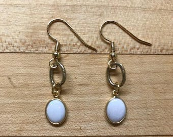 Natural opal earrings