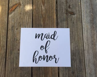 Maid of Honor Iron-On Vinyl Decal~ Glitter Iron-On Vinyl Decal~ Iron-On Vinyl Decal ~ DIY WEDDING SHIRT