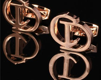 CD Dior Paris Cufflinks in Yellow Gold Classic Plated