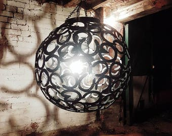 Horse shoe globe light