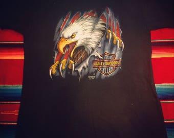 Vintage Harley Davidson 3-D Emblem Shirt 1990 Large