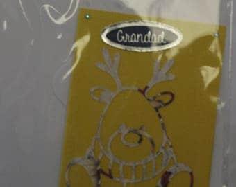 Handmade Grandad Reindear Christmas Card