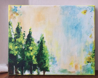 Nature Abstract Acrylic painting