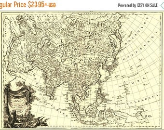 40% OFF SALE Poster, Many Sizes Available; Map Of Asia 1787 In Armenian