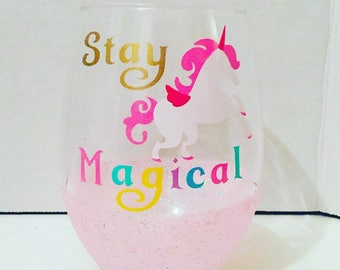 Unicorn Stemless Wineglass