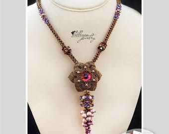 Necklace Camellia - pattern in PDF (Russian language)