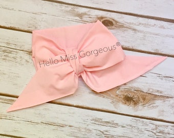 PINK Gorgeous Wrap- headwrap; fabric head wrap; pink head wrap; boho; newborn headband; baby headband; toddler headband