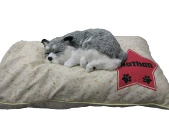 Personalized Cotton Dog Bed Cover with or without Piping (8oz Soft Cotton Canvas) - Preshrink