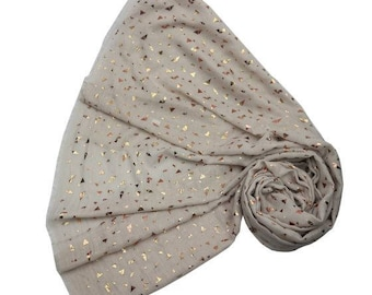 Rose Gold Triangle Scarf