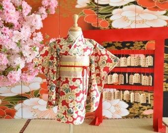 Japan kimono sakura custom order handmade girl baby