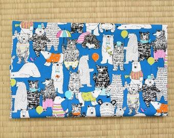 cotton polar bear fabric 1/2 yard