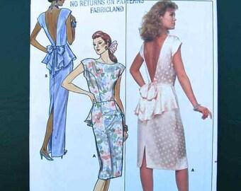 1987 Butterick Pattern #5595 Misses' Formal Dress Size 6,8,10 Uncut
