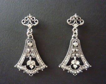 Vintage Earrings Art Deco Earrings Great Gatsby Earrings Art Nouveau Earrings Jewelry Wedding Bridal Earrings Jewelry Downton Downtown Abbey