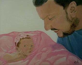 16x20 Custom Oil or Acrylic Painting Art Portrait