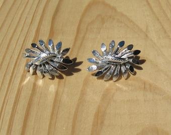Vintage Coro Silver Tone Clip on Earrings