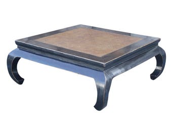 Black Lacquered Opium Coffee Table Coffee Table Rattan Coffee Table Rustic Coffee Table